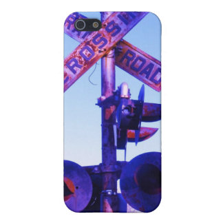 purple railroad crossing signal iPhone 5 cases