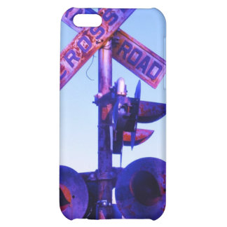 purple railroad crossing signal iPhone 5C cases