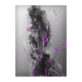 Purple rain electric Beauty Acrylic Wall Art