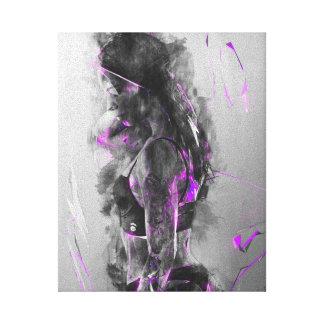 Purple rain electric Beauty Canvas Print