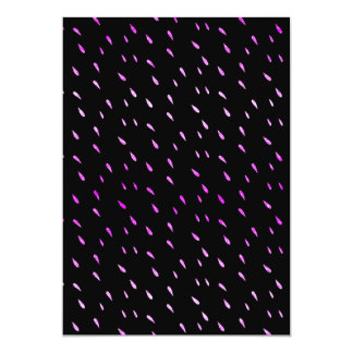 Purple Rain Faux Foil Metallic Black Background Card