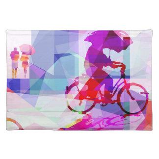 Purple rain, individual tablecloth placemat