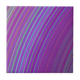 Purple Rainbow Ceramic Tile