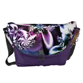 Purple Rainbow Fractal Flower Psychedelic Bag Courier Bag