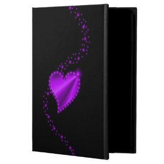 Purple Rainbow Heart with Stars on black Case For iPad Air
