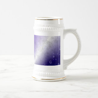 purple Rainbow in elephant Skin Leather Optic Beer Stein