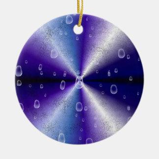 purple Rainbow in elephant Skin Leather Optic Ceramic Ornament