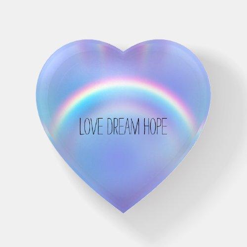 Purple Rainbow Love Dream Hope Personalized Paperweight