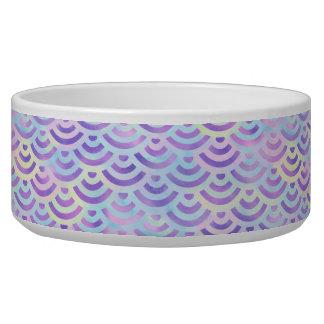Purple Rainbow Mermaid Pastel Pattern Bowl