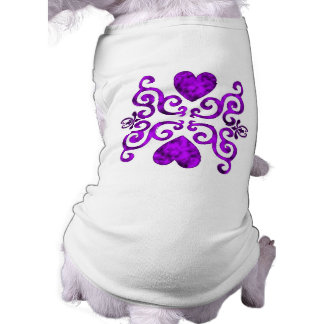 purple Rainbow Ornaments, heart and lily T-Shirt
