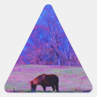 Purple Rainbow Pony Triangle Sticker