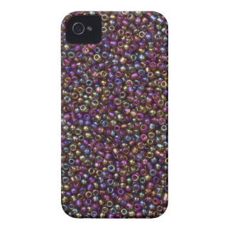Purple Rainbow Rocaille Seed Beads iPhone 4 Cover