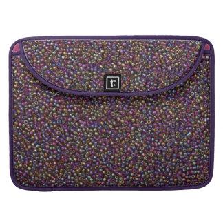 Purple Rainbow Rocaille Seed Beads Sleeve For MacBooks