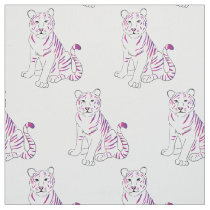 Purple rainbow tiger pattern fabric