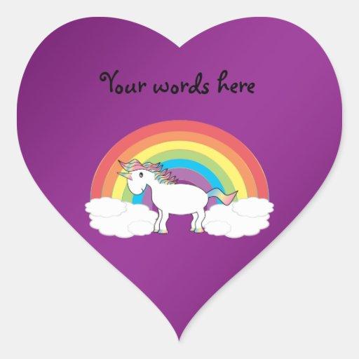 Purple rainbow unicorn gifts stickers