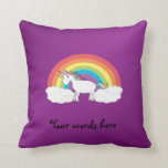 Purple rainbow unicorn gifts throw pillow
