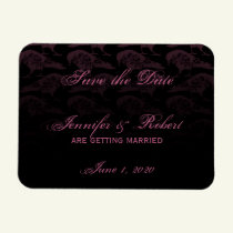 Purple Raven Gothic Save the Date Magnet