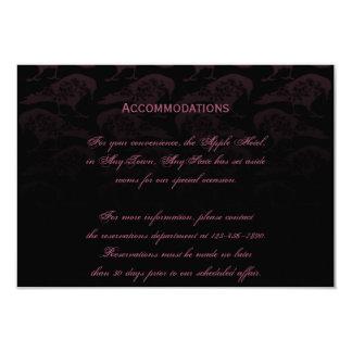 Purple Raven Gothic Wedding Accomodations Card