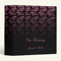 Purple Raven Gothic Wedding Binder