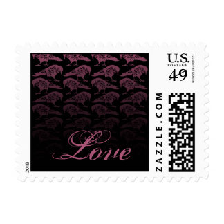 Purple Raven Gothic Wedding Postage