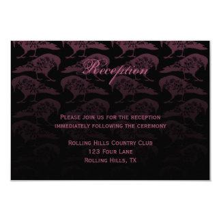 Purple Raven Gothic Wedding Reception Card
