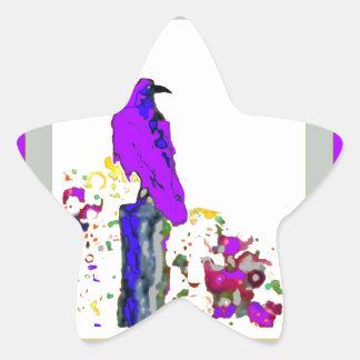 Purple Raven pop Art by Sharles Star Sticker