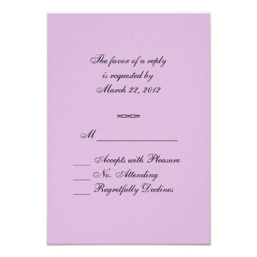 Purple Rays RSVP Invitation