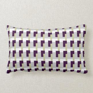 Purple Rectangles Throw Pillow