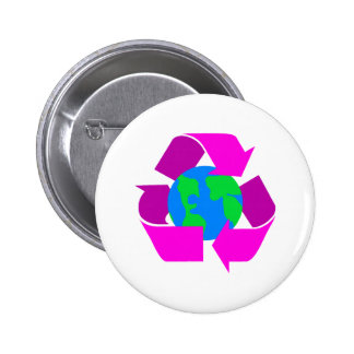 Purple Recycle 2 Inch Round Button