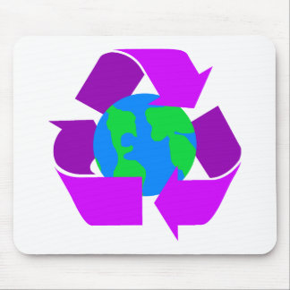 Purple Recycle Mouse Pad