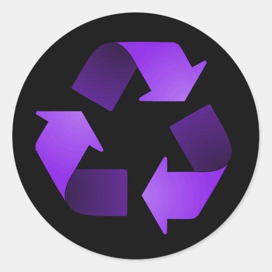 Purple Recycling Symbol Sticker Zazzle