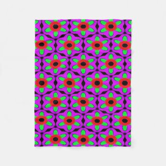Purple Red and Green Flower Pattern