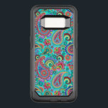 "Purple Red And Yellow Paisley OtterBox Commuter Samsung Galaxy S8 Case<br><div class=""desc"">Cool retro colorful paisley pattern. Purple with red and yellow accents.</div>"
