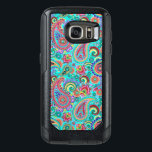 "Purple Red And Yellow Paisley OtterBox Samsung Galaxy S7 Case<br><div class=""desc"">Cool retro colorful paisley pattern. Purple with red and yellow accents.</div>"