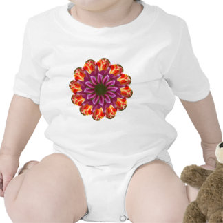 Purple, Red and Yellow Tulips Baby Bodysuit