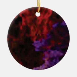 purple red blend coral ceramic ornament