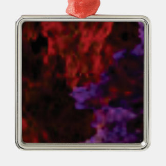 purple red blend coral metal ornament