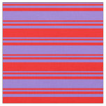 [ Thumbnail: Purple & Red Colored Lined/Striped Pattern Fabric ]