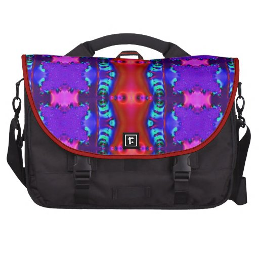 Purple Red Colorful Abstract Laptop Bags