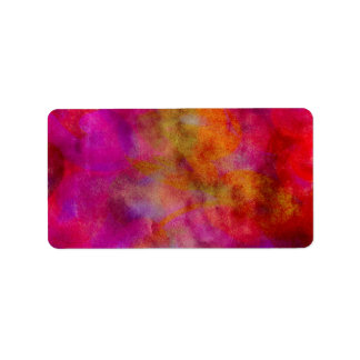 Purple Red Colorful Watercolor Abstract Background Label