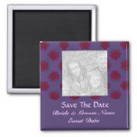 Purple Red floral save the date Fridge Magnets