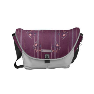 Purple Red Liberty Upholstery Small Bag