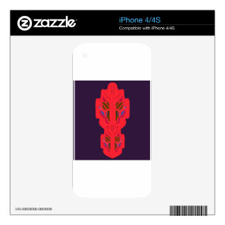 Purple red mandalas Folk Decals For The iPhone 4S