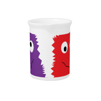 Purple & Red Monsters Beverage Pitchers