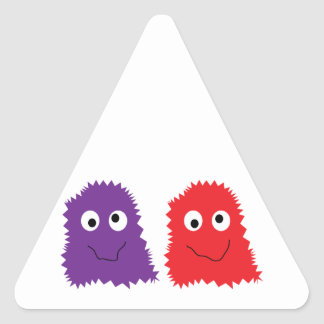 Purple & Red Monsters Triangle Sticker