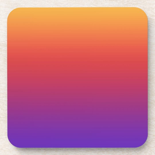 Purple Red Orange Grant Stripes Drink Coaster