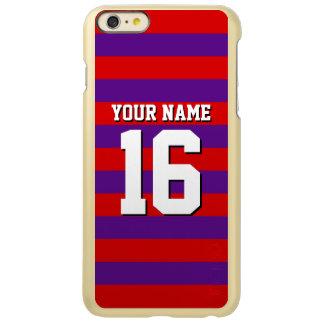 Purple Red Team Jersey Preppy Stripe Incipio Feather Shine iPhone 6 Plus Case