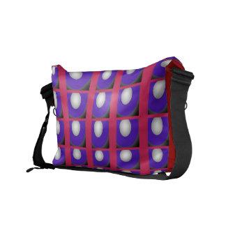 Purple, Red & White Combo Messenger Bag