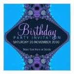 Purple Reef Party Birthday Invitation