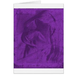 Purple Reflections I Greeting Card